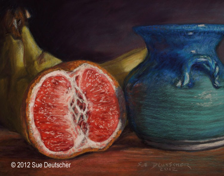 """Grapefruit"" original fine art by Sue Deutscher"