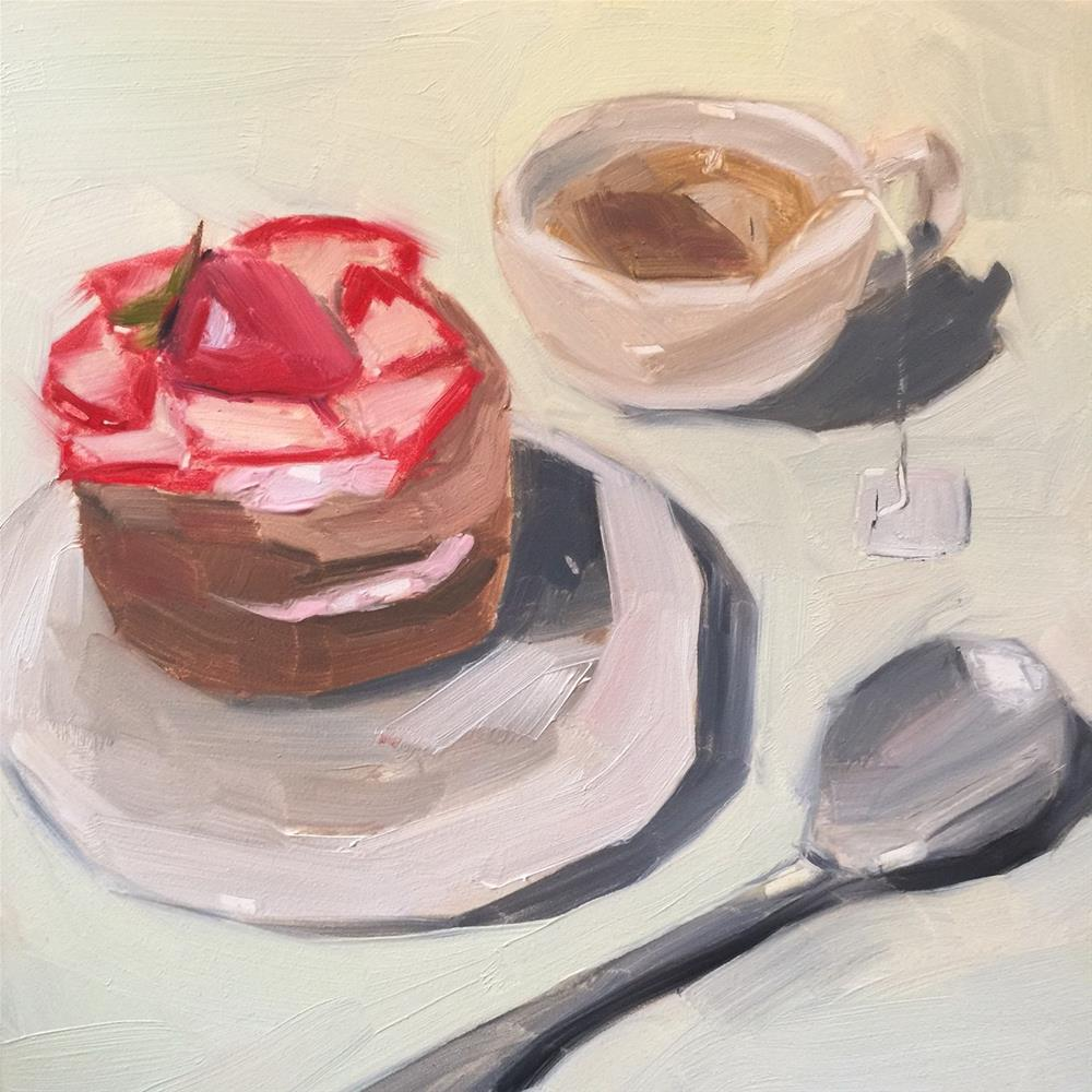 """352 Tea and Treats"" original fine art by Jenny Doh"