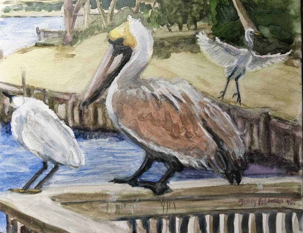 """Litchfield Birds"" original fine art by Tracy Feldman"