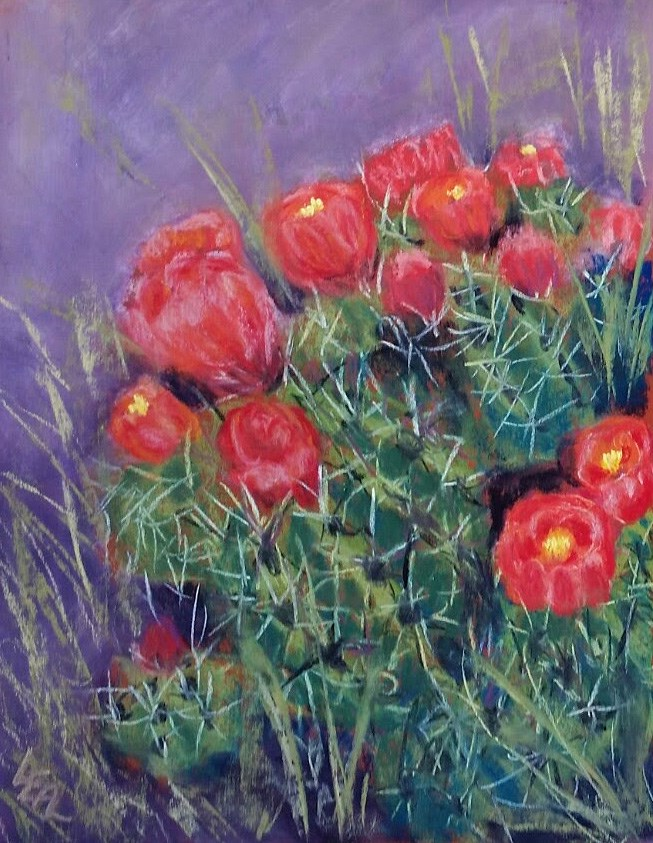 """Claret Cups"" original fine art by Anna Lisa Leal"