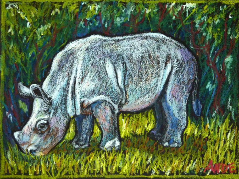 """Javan Rhinochild"" original fine art by Ande Hall"