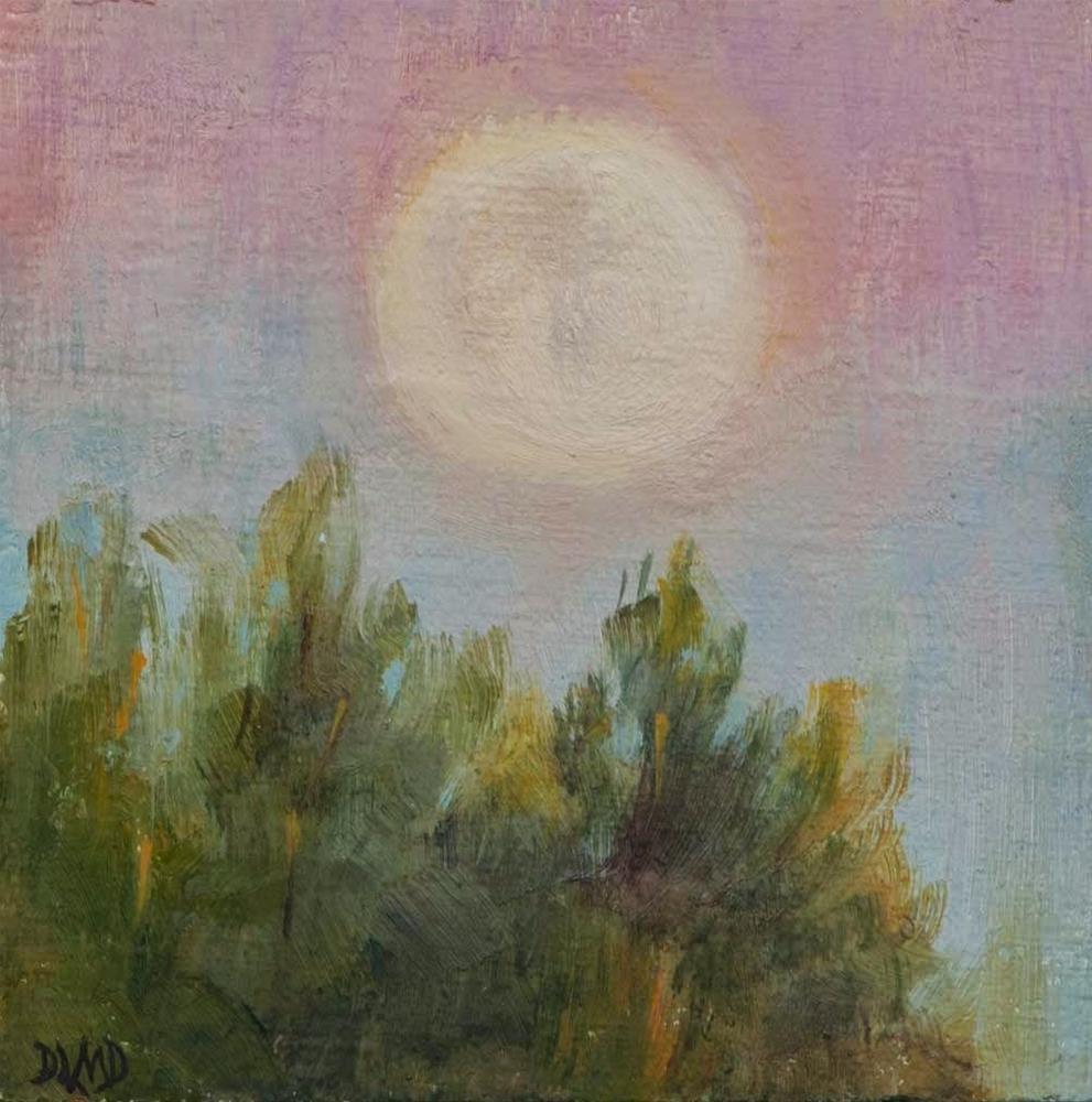 """30 in 30 Challenge, Day 14, Super Moon"" original fine art by Debbie Lamey-Macdonald"