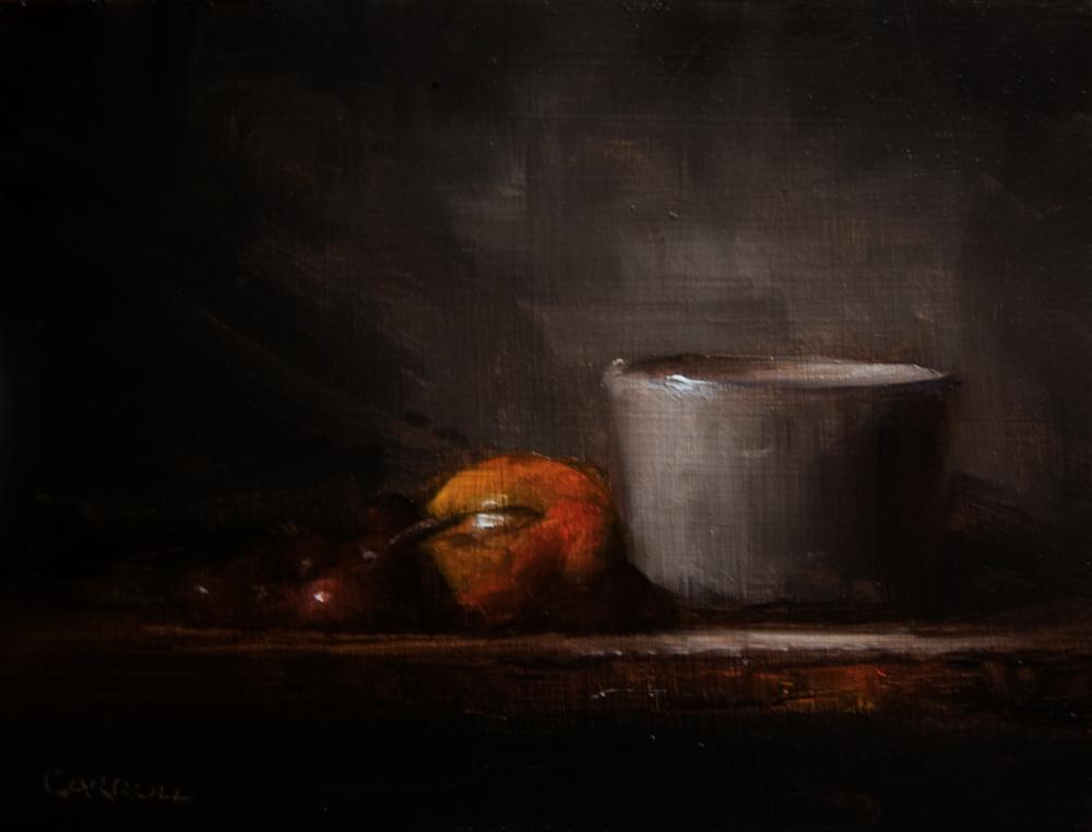 """""""Grey Pot"""" original fine art by Neil Carroll"""
