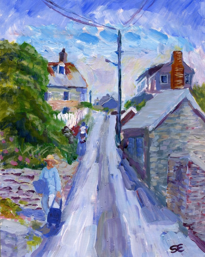 """Fore Street, Port Isaac, UK"" original fine art by Stanley Epperson"