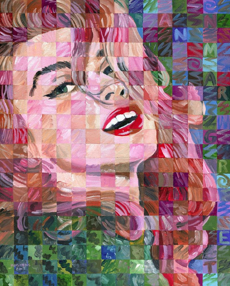 """Ann-Margret - Pop Art Portrait #27"" original fine art by Randal Huiskens"