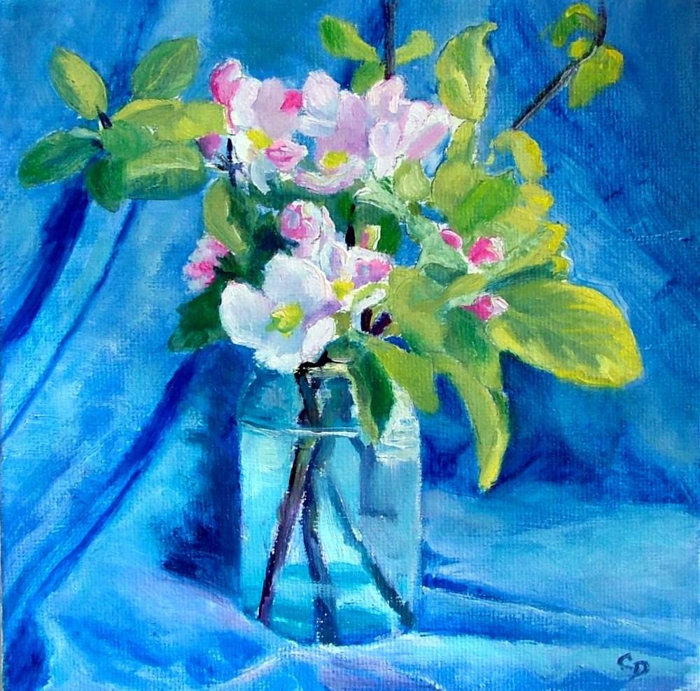 """Apple Blossom"" original fine art by Christine Derrick"