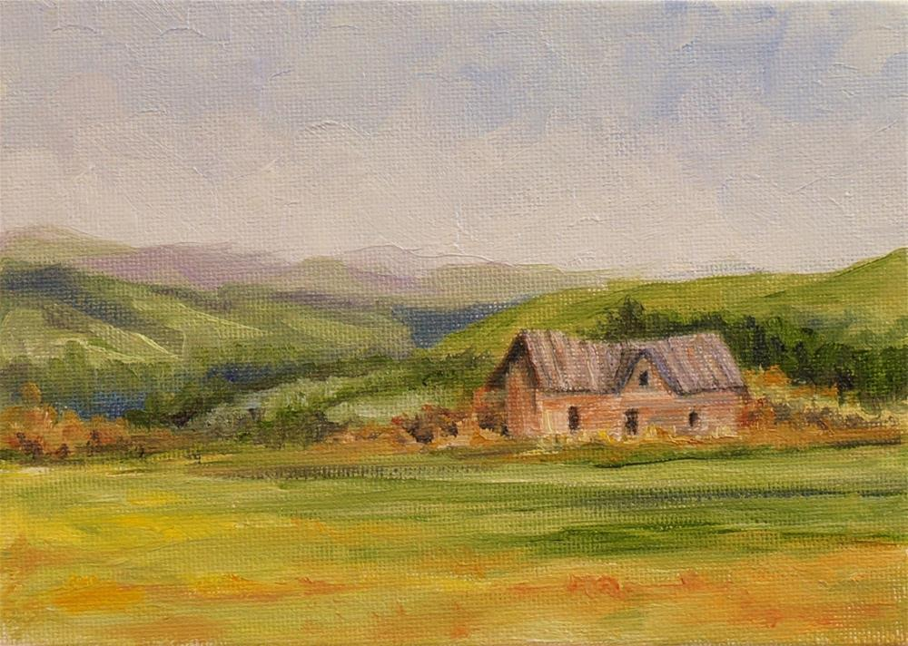 """Old House On The Hill"" original fine art by Maria Levandowski"