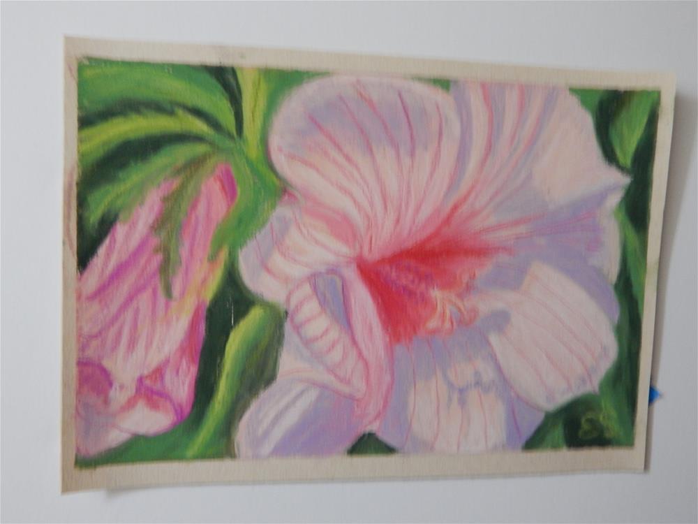 """Hibiscus"" original fine art by Elaine Shortall"