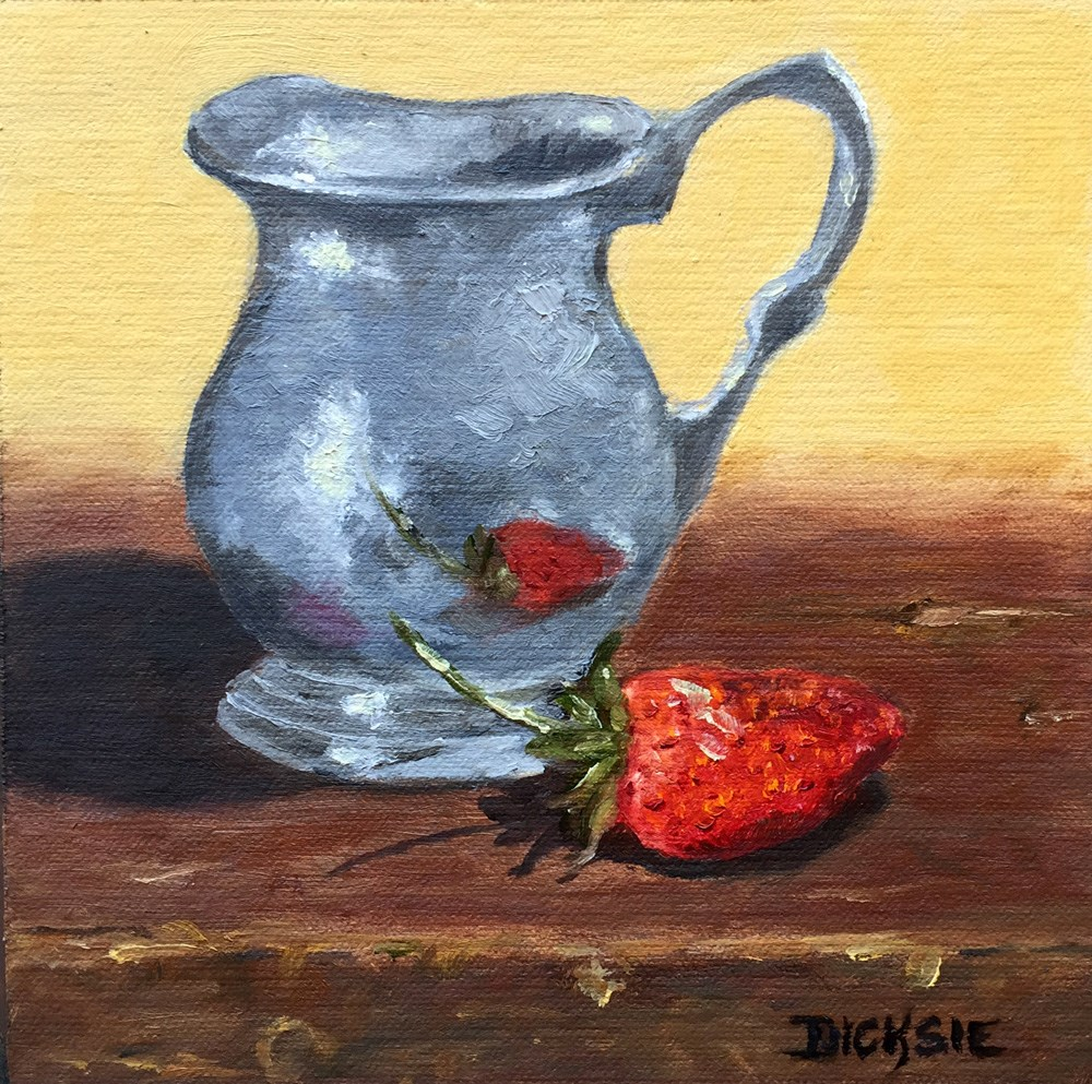 """Pewter Pitcher"" original fine art by Dicksie McDaniel"