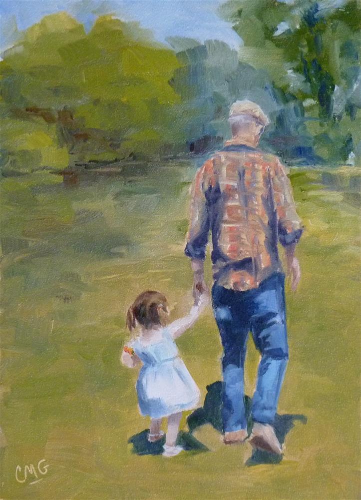 """A Walk With Bepa"" original fine art by Cindy Greene"