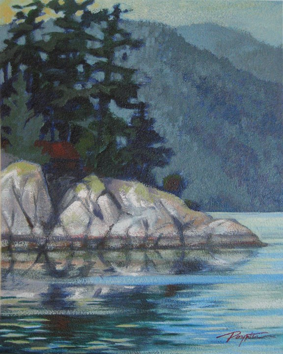 """Bluff - Tuwanek (Porpoise Bay)"" original fine art by Jan Poynter"