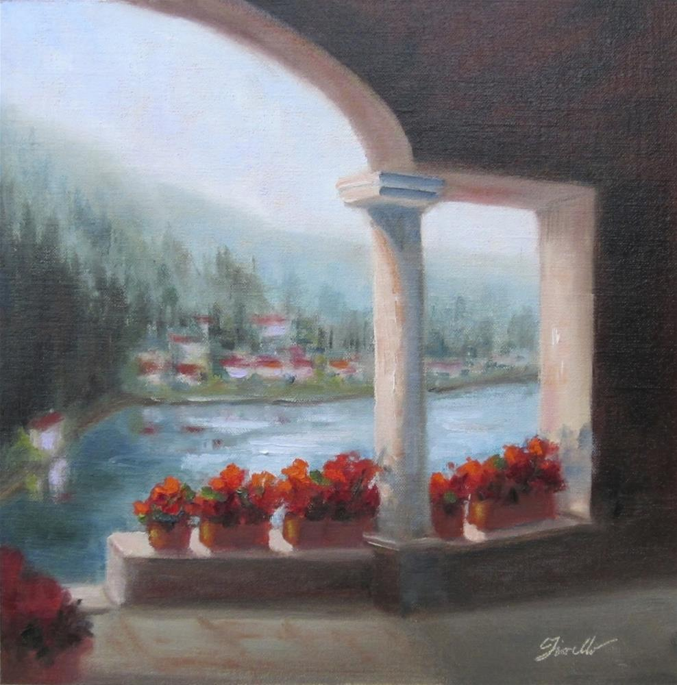 """""""View to the Lake and A Sneak Peek into the Book Printing Process"""" original fine art by Pat Fiorello"""