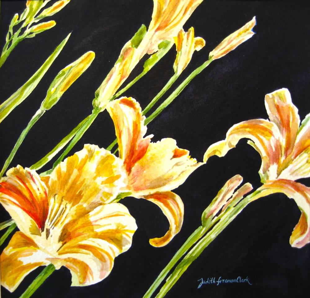 """Sun-worshippers"" original fine art by Judith Freeman Clark"