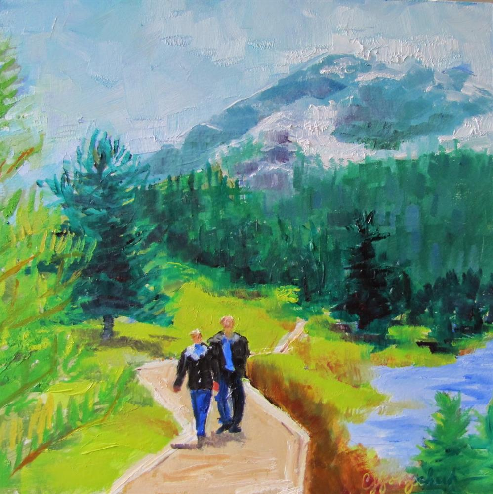 """Morning Hike"" original fine art by Christine Holzschuh"
