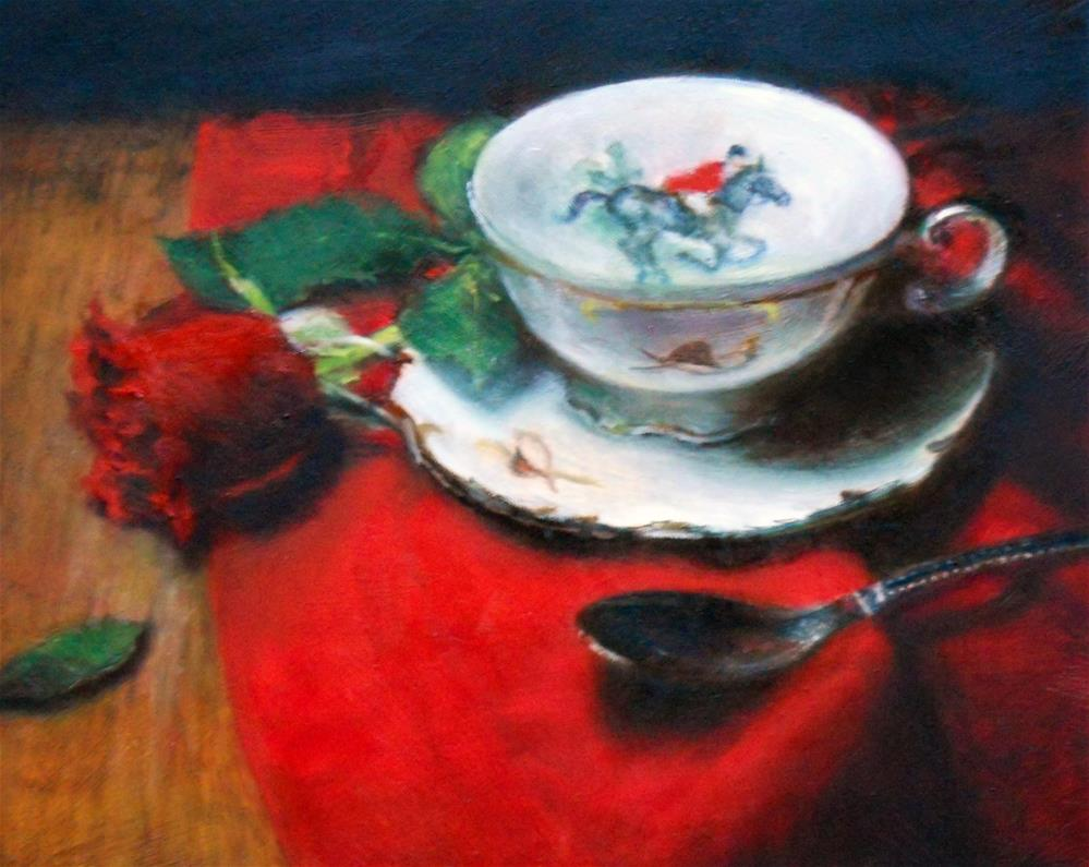 """Hunt Club Tea"" original fine art by Jill Brabant"