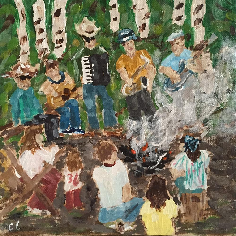 """Happy Campers "" original fine art by Cheree Apalona Lueck"