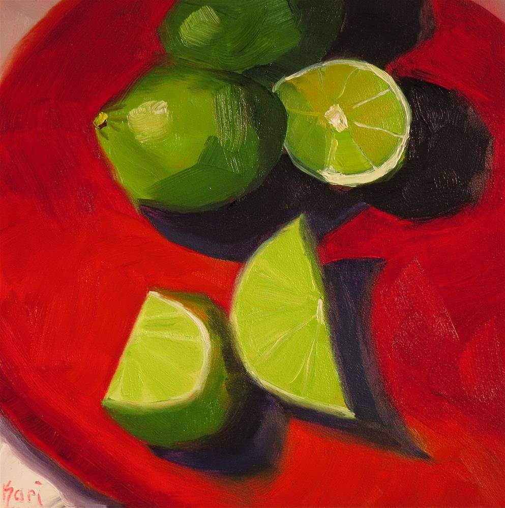 """Bright Lime"" original fine art by Kari Melen"