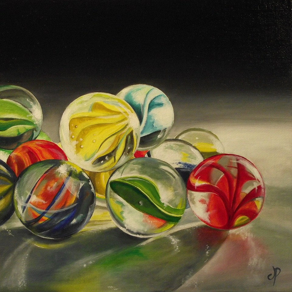 """Glass Marbles now Available"" original fine art by Jane Palmer"