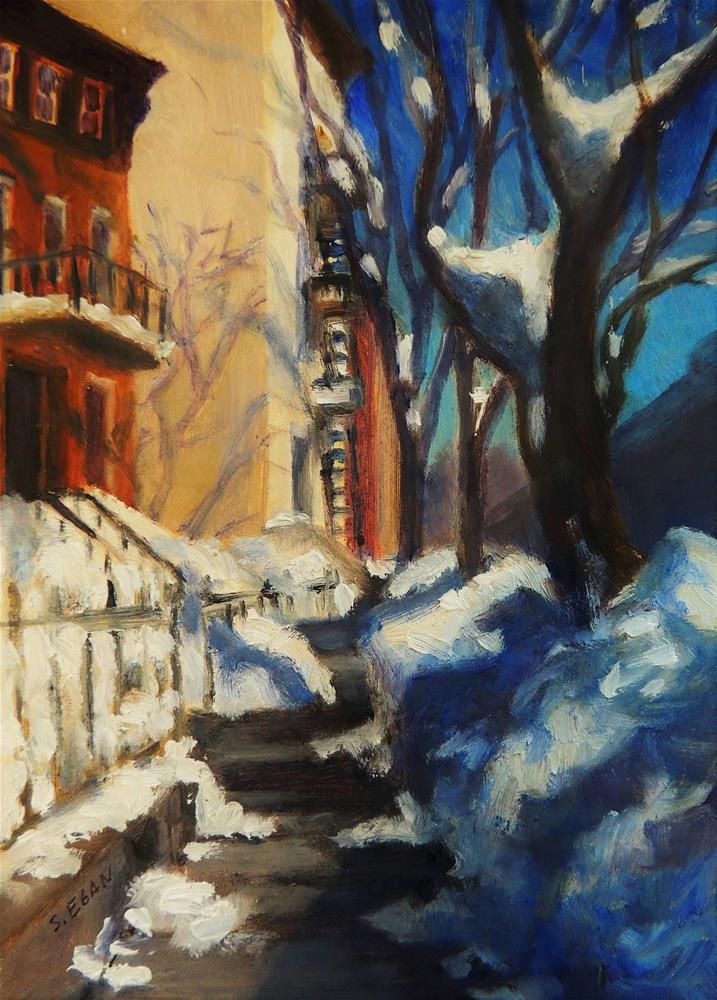 """Clinton Street, Brooklyn"" original fine art by Sharon Egan"