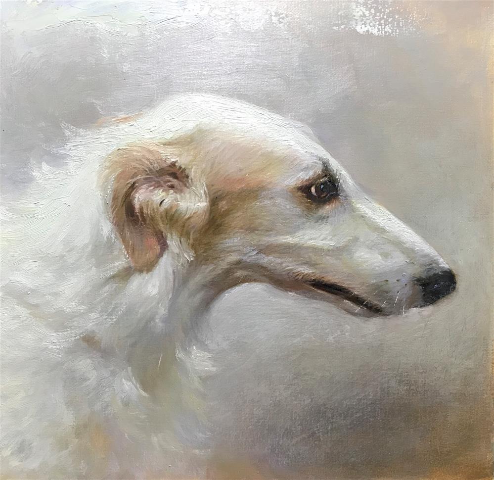 """""""White as snow"""" original fine art by Regina Lyubovnaya"""