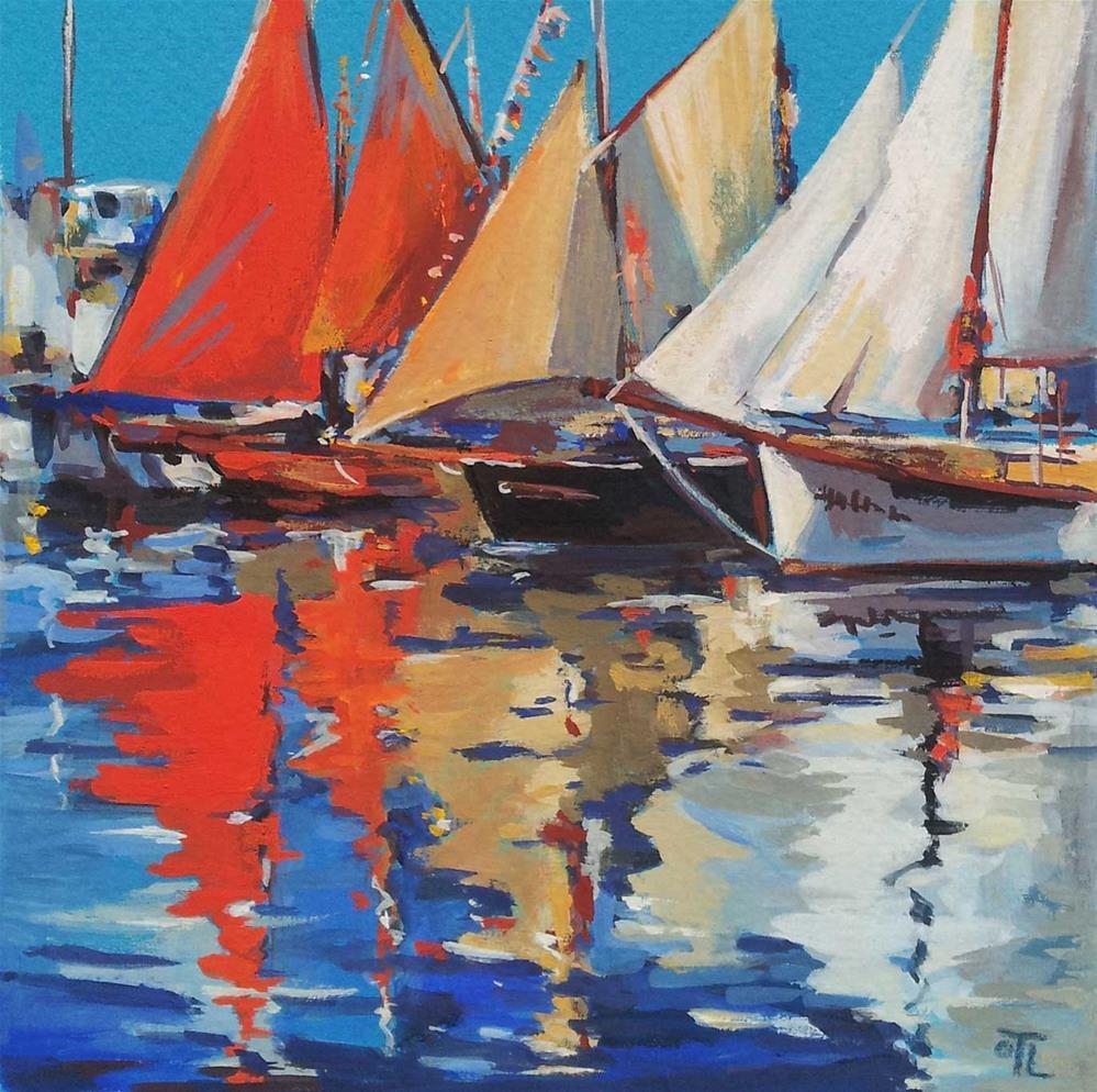 """""""DCS#36 - All sails outside"""" original fine art by Olga Touboltseva-Lefort"""