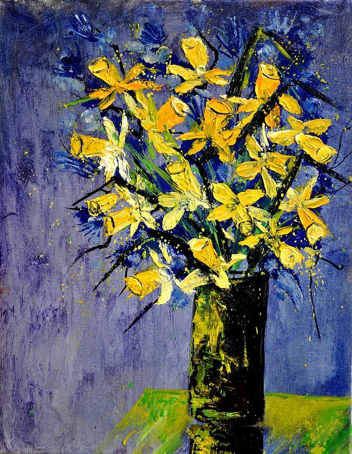 """Daffodils"" original fine art by Pol Ledent"
