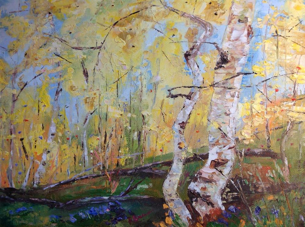 """The Birches"" original fine art by Rose Brenner"