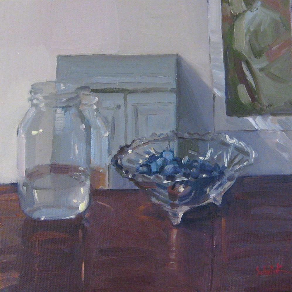 """Blueberries and Water"" original fine art by Sarah Sedwick"