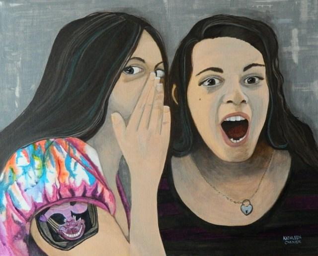 """Silly Girls"" original fine art by Kathleen Carrier"