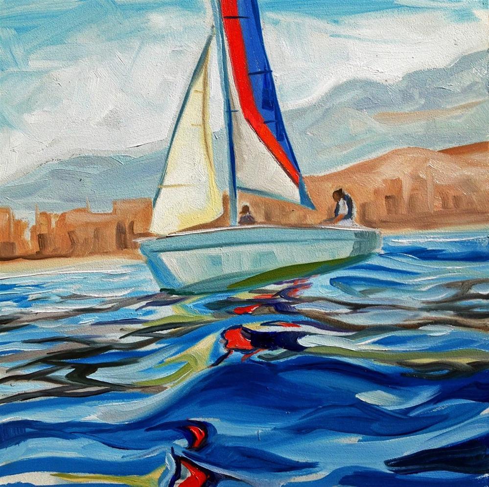 """Sea Voyage"" original fine art by Lauren Kuhn"