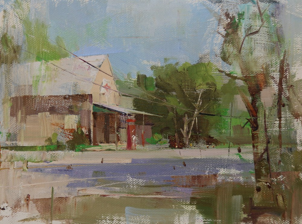 """Plein Air at Driftwood"" original fine art by Qiang Huang"