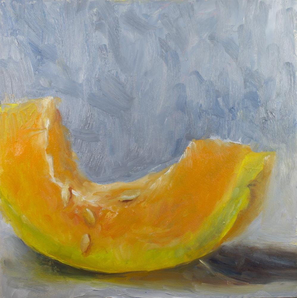 """Cantaloupe Sketch"" original fine art by Sue Churchgrant"