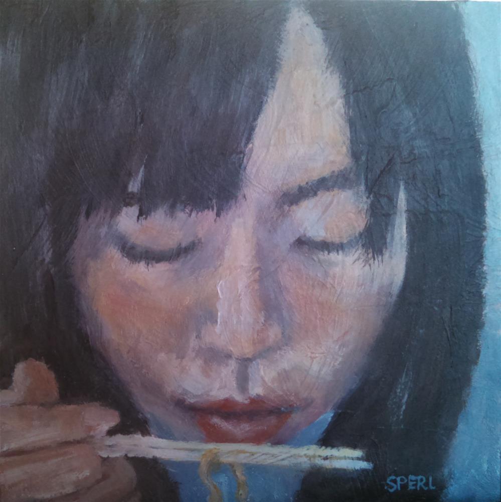 """""""Chop Ramen"""" original fine art by Cheri Sperl"""