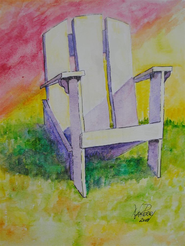 """Chair in the Sun"" original fine art by Nan Perry"