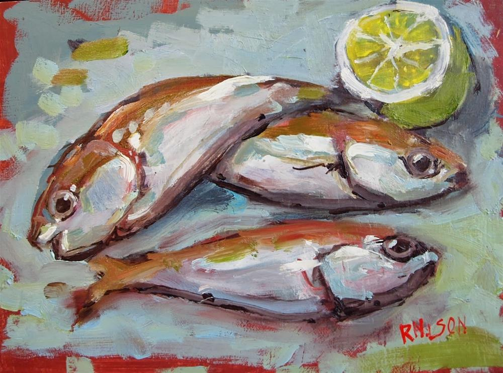 """Fish with Lime"" original fine art by Rick Nilson"