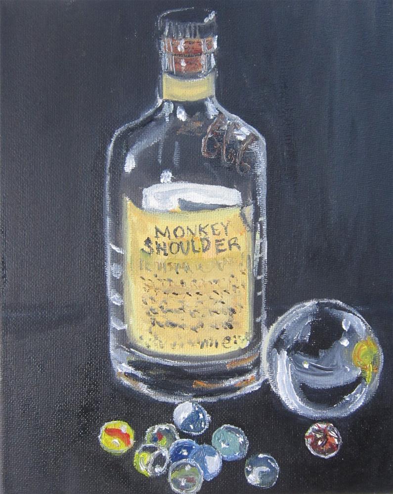 """""""Monkey Shoulder with Marbles"""" original fine art by Samara Doumnande"""
