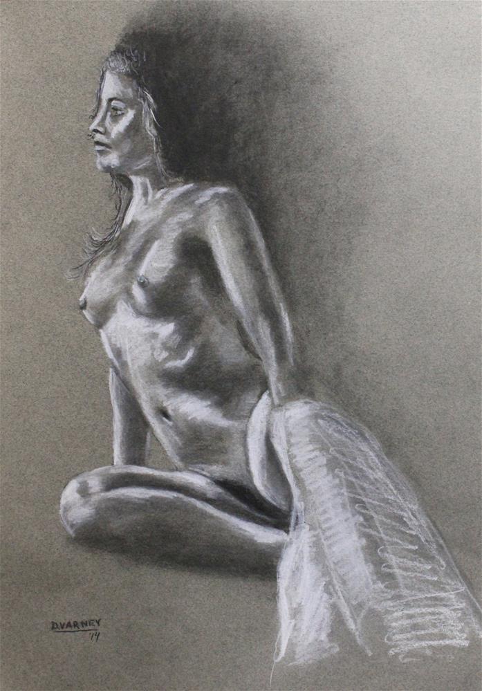 """""""Nude Figure Study"""" original fine art by Daniel Varney"""