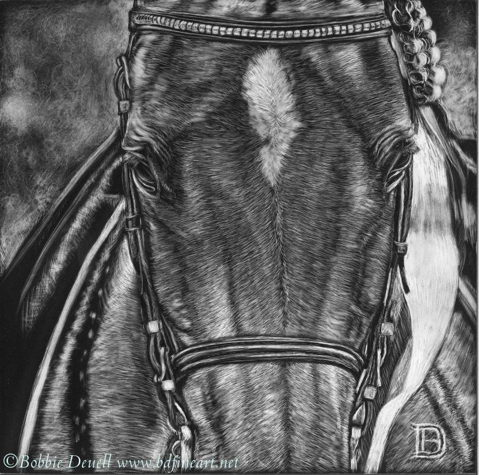 """#35 in the Ribbons"" original fine art by Bobbie Deuell"