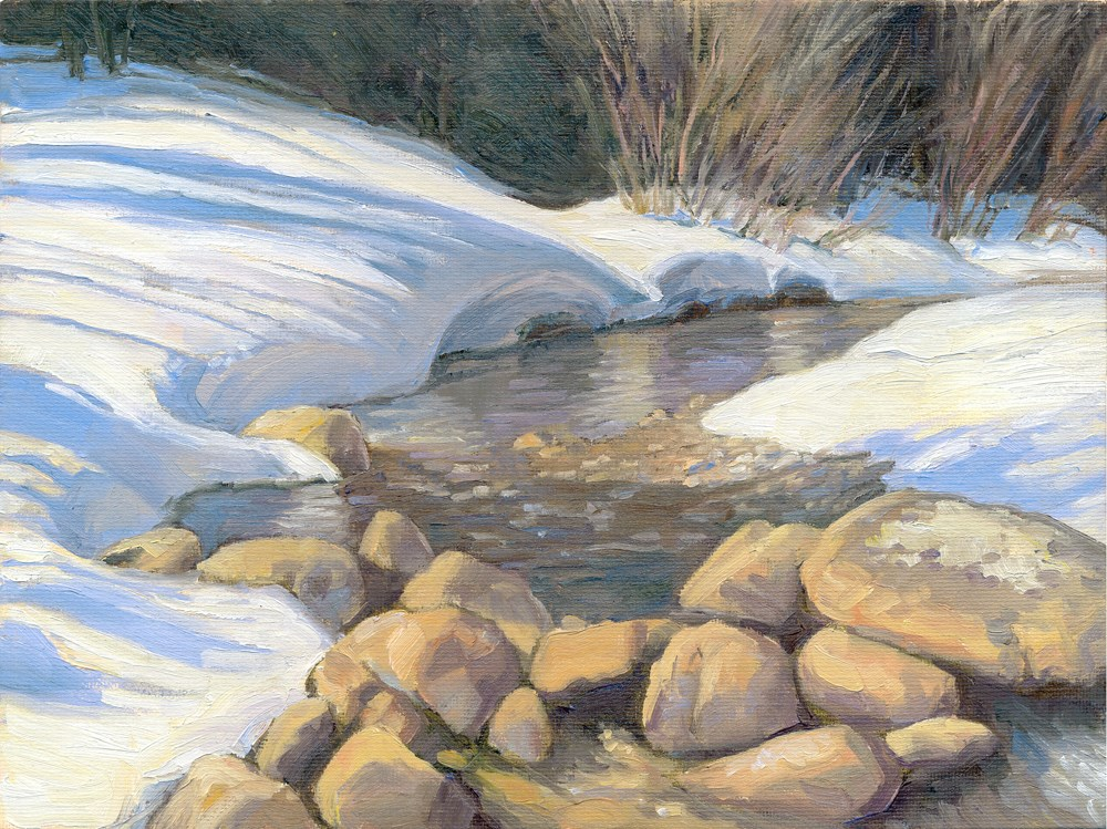 """Snow Banks"" original fine art by Kath Reilly"