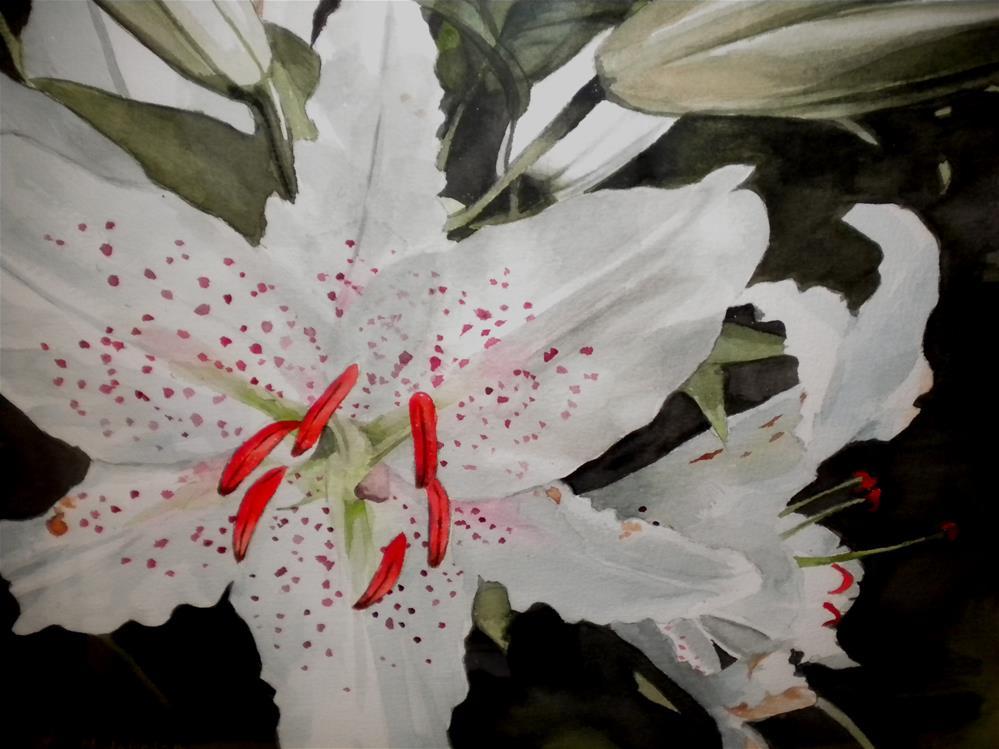 """Casa Blanca"" original fine art by Hilarie Johnson"