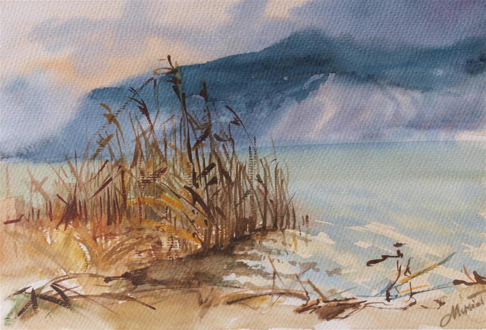 """Lac du Bourget"" original fine art by Beata Musial-Tomaszewska"