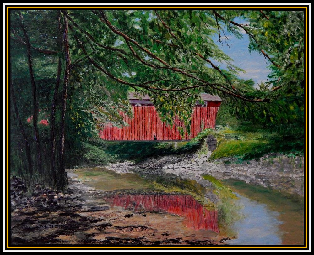 """Everett Road Bridge"" original fine art by Captain B Smith"