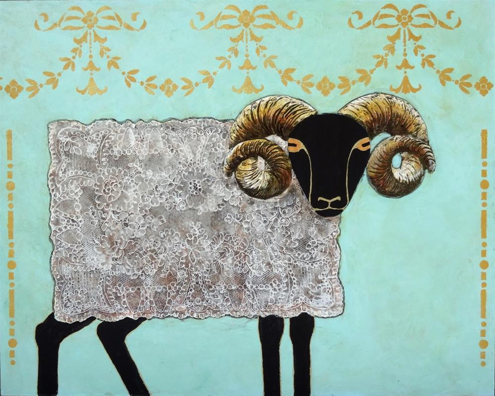 """Placemat Ram"" original fine art by Ande Hall"