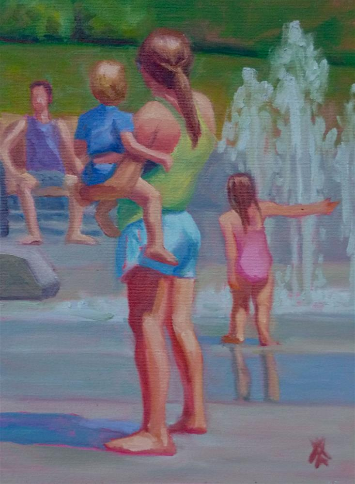 """Staying Cool"" original fine art by Mark Allison"