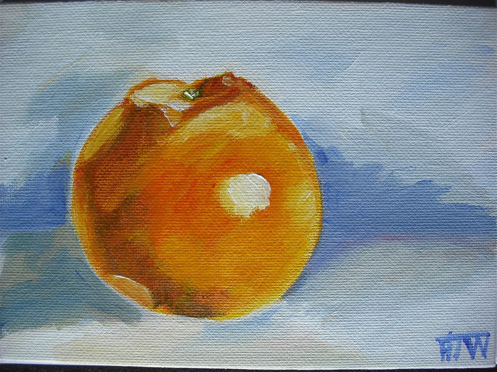 """Lonely Orange"" original fine art by Heather Whiting"