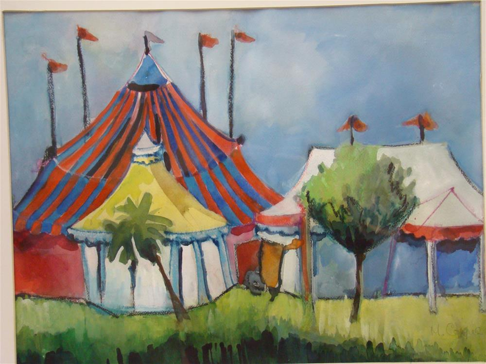 """circus tent"" original fine art by meribeth coyne"