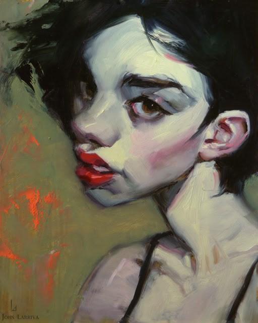 """Sprite"" original fine art by John Larriva"