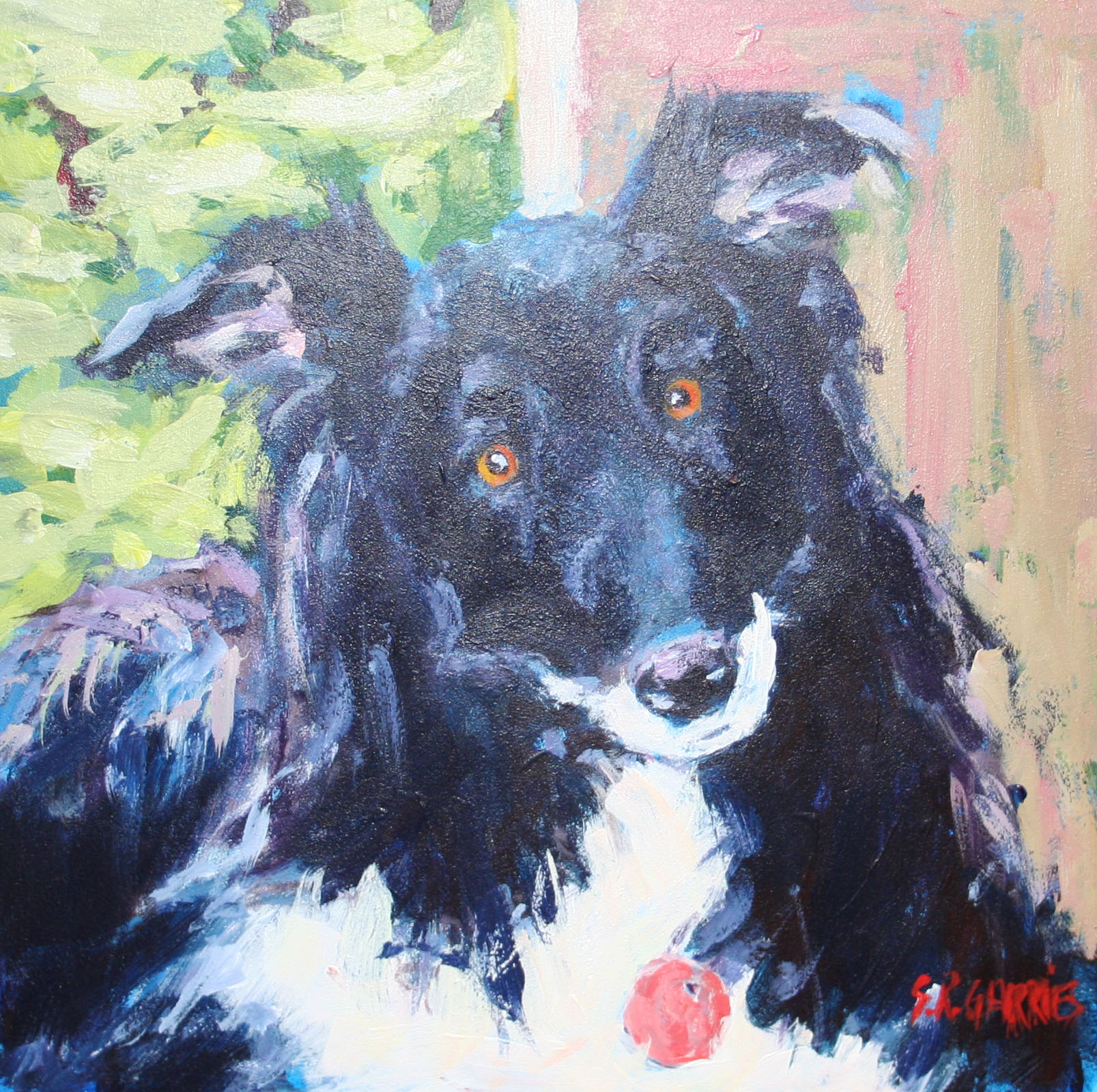 """My Girl Bailey"" original fine art by Shelley Garries"