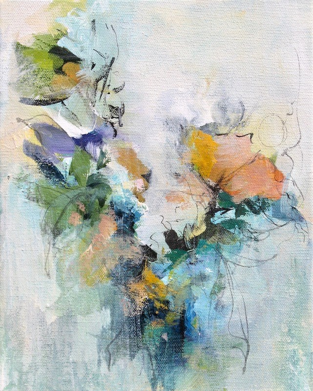 """Floral 8"" original fine art by Karen Hale"