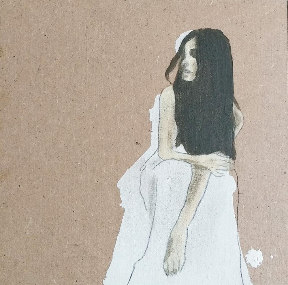 """""""Snow White 3"""" original fine art by Sandra Woerner"""